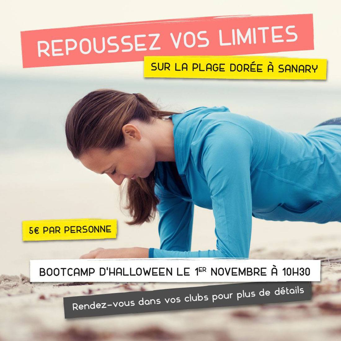 Boot Camp Halloween à Sanary le 1er novembre
